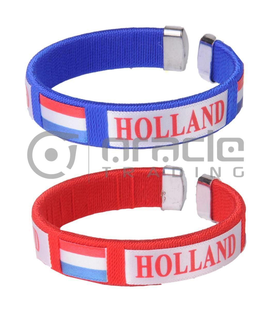 Holland C Bracelets Red/Blue 12-Pack