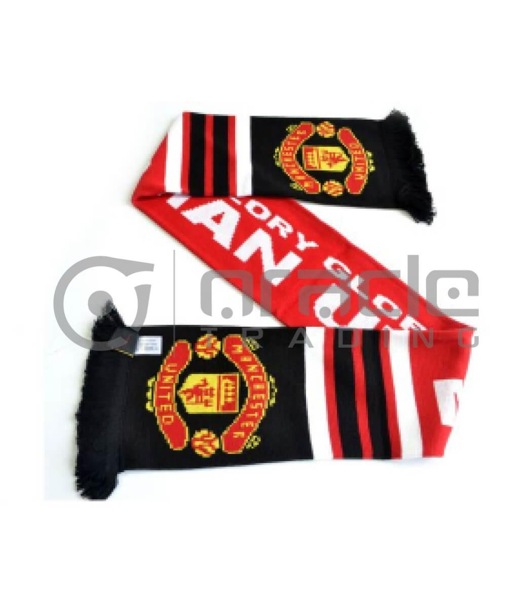 Manchester United Knitted Scarf - Glory - UK Made