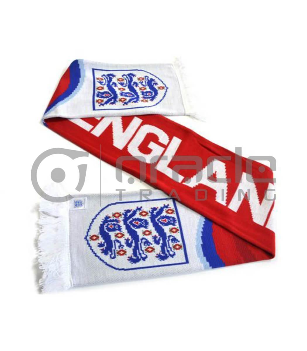 England FA Knitted Scarf - White