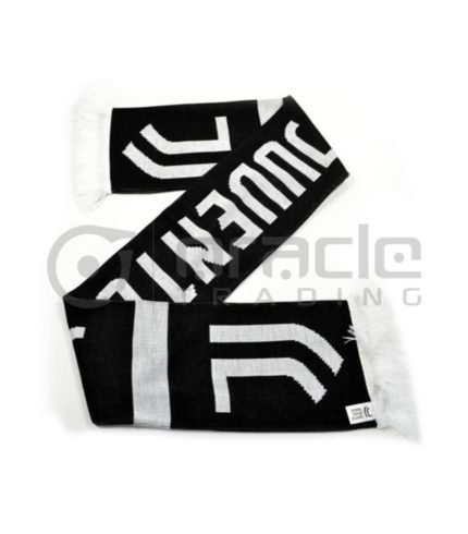 Juventus Knitted Scarf - UK Made (Black)