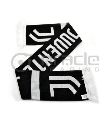 Juventus Knitted Scarf - UK Made (Black)