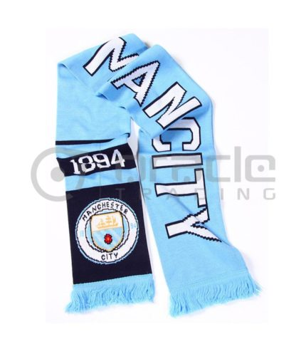 Manchester City Knitted Scarf - UK Made