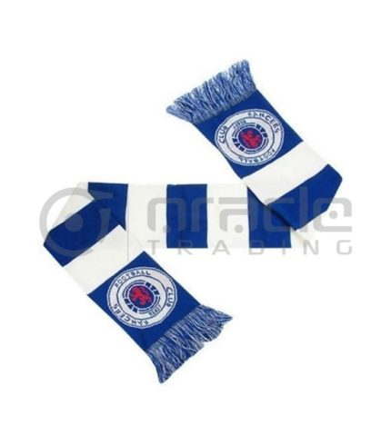 Rangers FC Knitted Scarf - UK Made