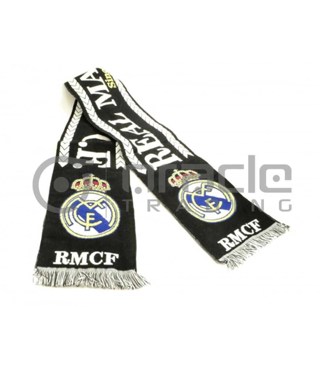 Real Madrid Knitted Scarf - Black - Made in Spain