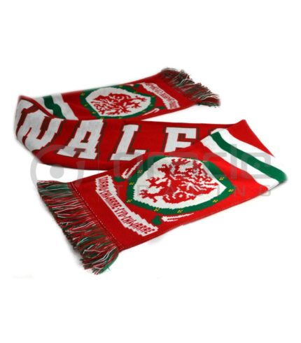 Wales Rugby Knitted Scarf - UK Made