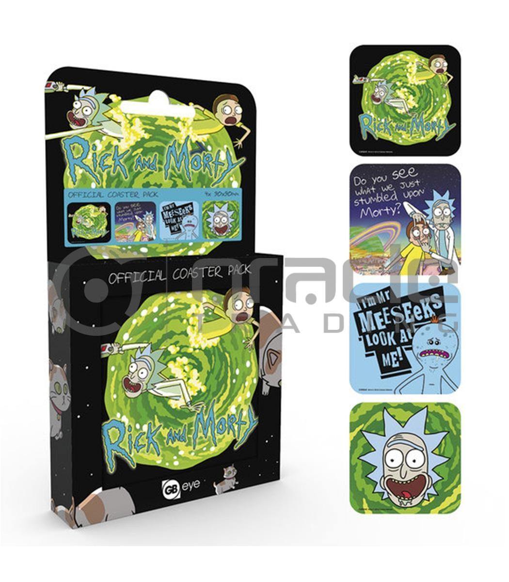 Rick & Morty 4-Pack Coaster Set