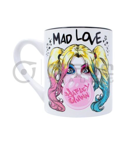 Harley Quinn Mug - Mad Love Bubble Gum (Glitter)