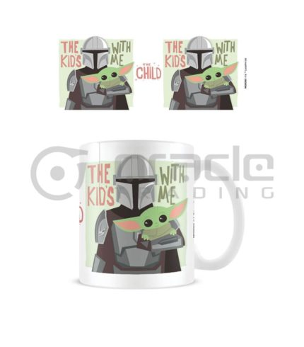 Star Wars: The Mandalorian Mug - The Kids With Me