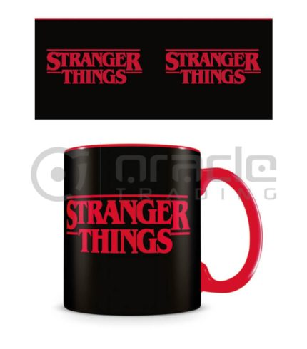 Stranger Things Mug - Logo - Inner Coloured