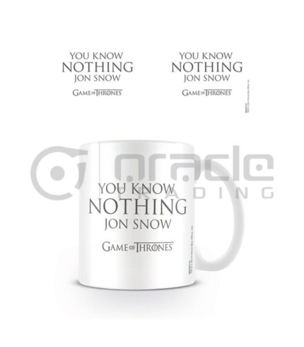 Game of Thrones Know Nothing Jon Snow Mug