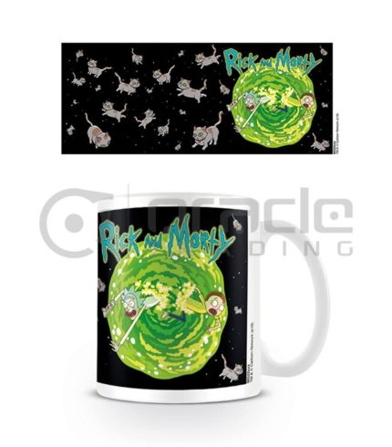 Rick & Morty Mug - Floating Cat Dimension