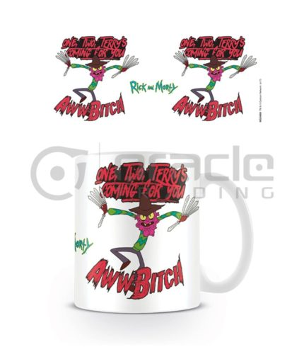 Rick & Morty Mug - Scary Terry - Aww Bitch