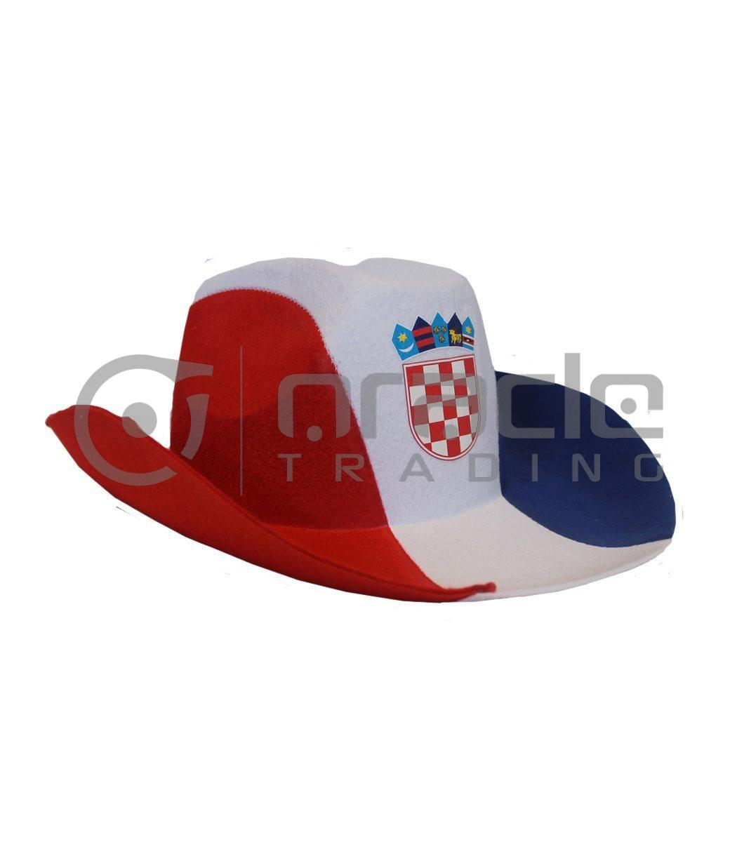 Croatia Cowboy Hat