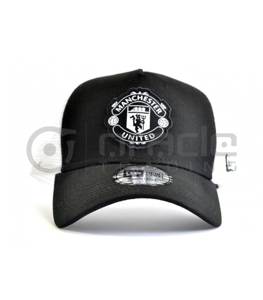manchester united black white crest hat new era oracle trading inc manchester united black white crest