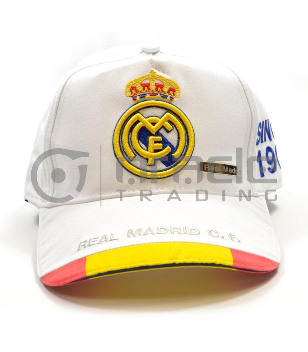 Real Madrid White Crest Hat