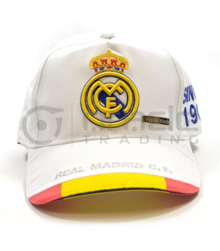 Real Madrid White Crest Hat