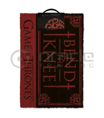 Game of Thrones Doormat - Targaryen - Bend the Knee