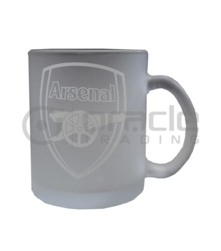 Arsenal Frosted Glass Mug