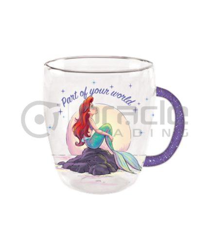 Little Mermaid Glass Handle Mug