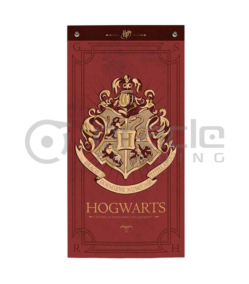 Harry Potter Banner - Hogwarts (Maroon)