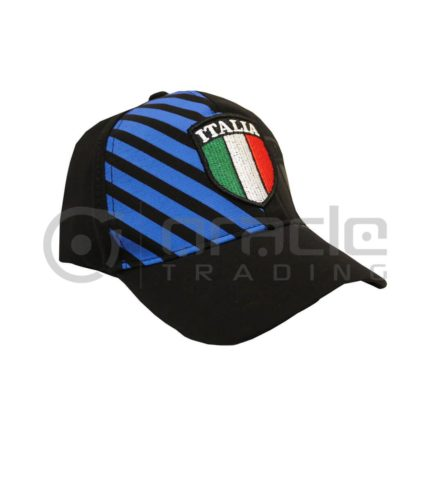 Italia Flex-Fit Crest Hat (Navy)