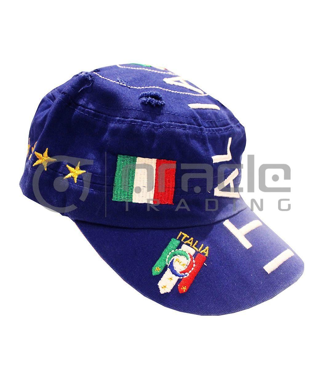 Italia Distressed Army Hat - Blue