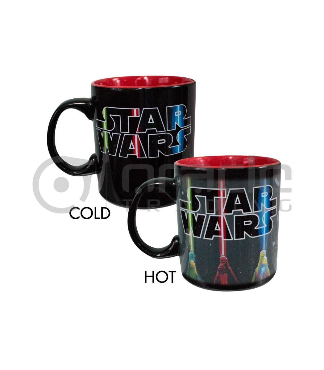 Star Wars Jumbo Heat Reveal Mug - Light Sabers