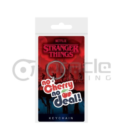 Stranger Things Keychain - No Cherry No Deal