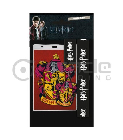 Harry Potter Gryffindor Lanyard & Keychain Set