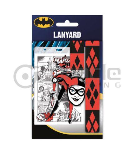Harley Quinn Lanyard & Keychain Set