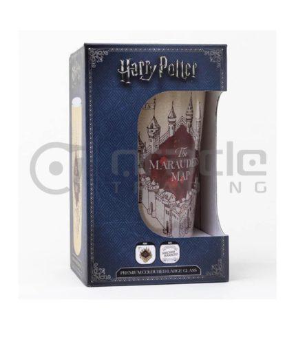 Harry Potter Marauders Map Large Glass - Premium Coloured