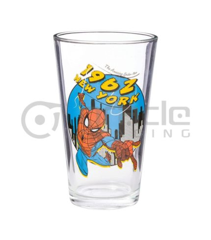 Spiderman Large Glass - 1962 Authentic