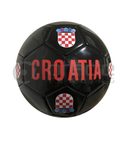Croatia Large Soccer Ball - Black
