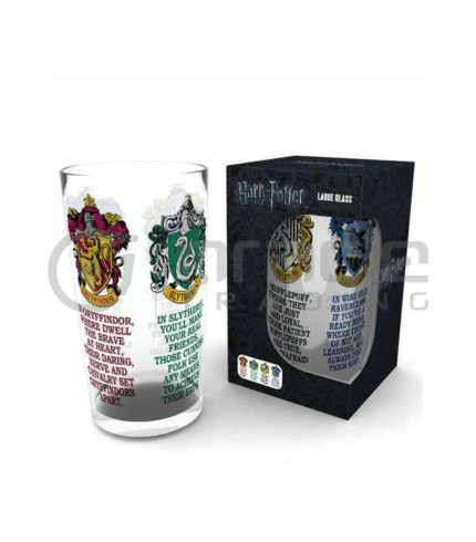 Harry Potter House Crests Large Glass
