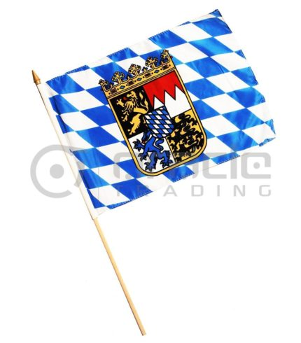 "Bavaria Large Stick Flag - 12""x18"" - 12-Pack"