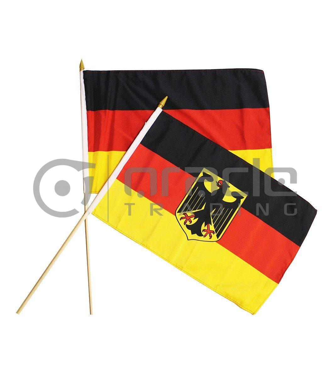 "Germany Eagle Large Stick Flag - 12""x18"" - 12-Pack"