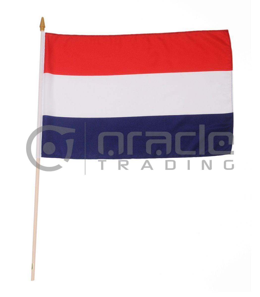 "Netherlands Plain Large Stick Flag - 12""x18"" - 12-Pack (Holland)"