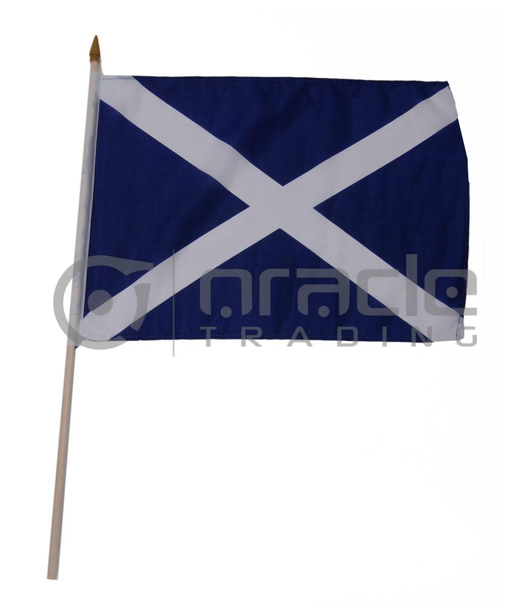 "Scotland Large Stick Flag - 12""x18"" - 12-Pack (St. Andrew's Cross)"
