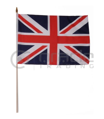 "UK Large Stick Flag - 12""x18"" - 12-Pack (United Kingdom)"