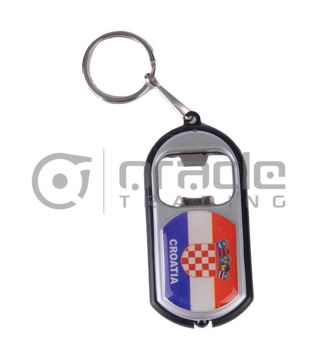 Croatia Flashlight Bottle Opener Keychain 12-Pack