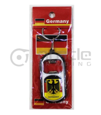 Germany Flashlight Bottle Opener Keychain 12-Pack