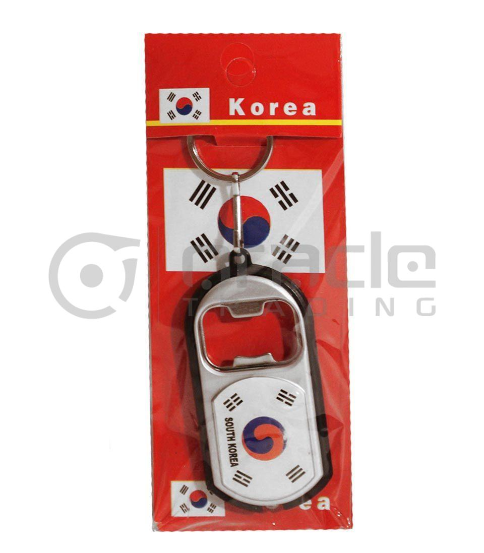 South Korea Flashlight Bottle Opener Keychain 12-Pack
