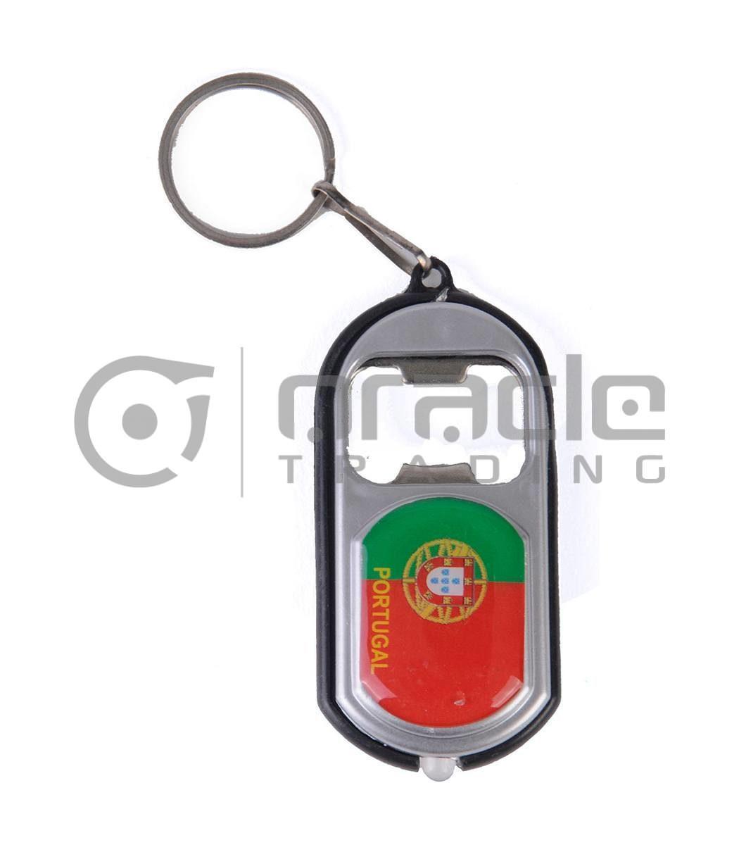 Portugal Flashlight Bottle Opener Keychain 12-Pack