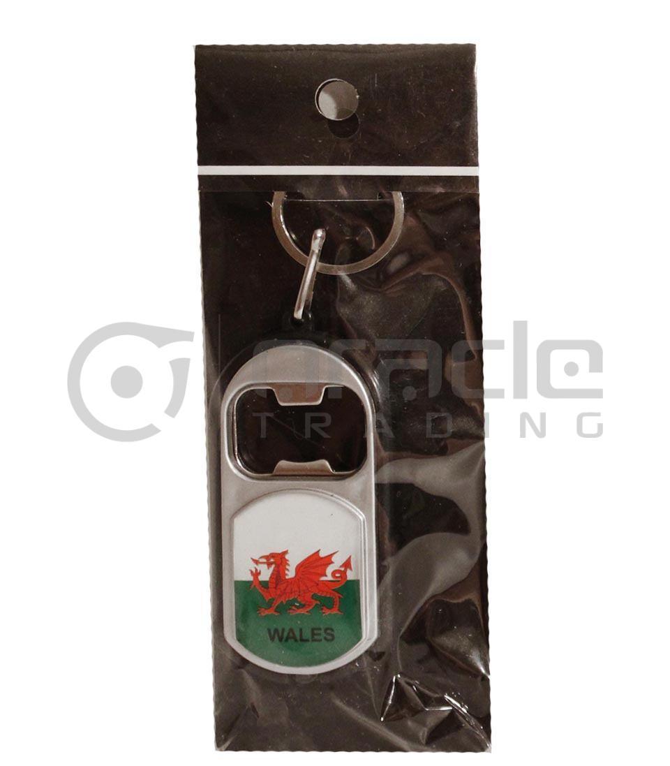 Wales Flashlight Bottle Opener Keychain 12-Pack