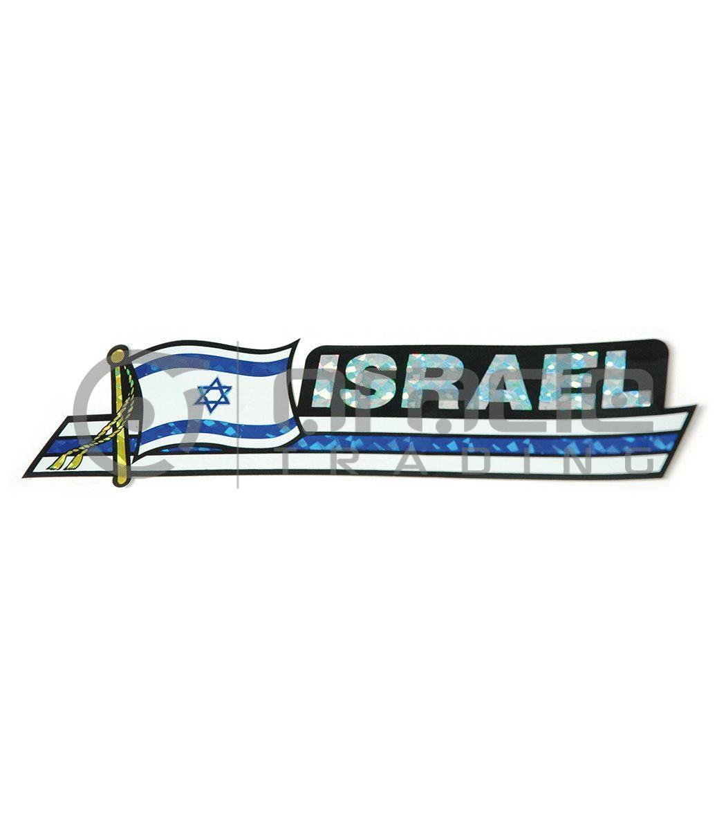Israel Long Bumper Sticker