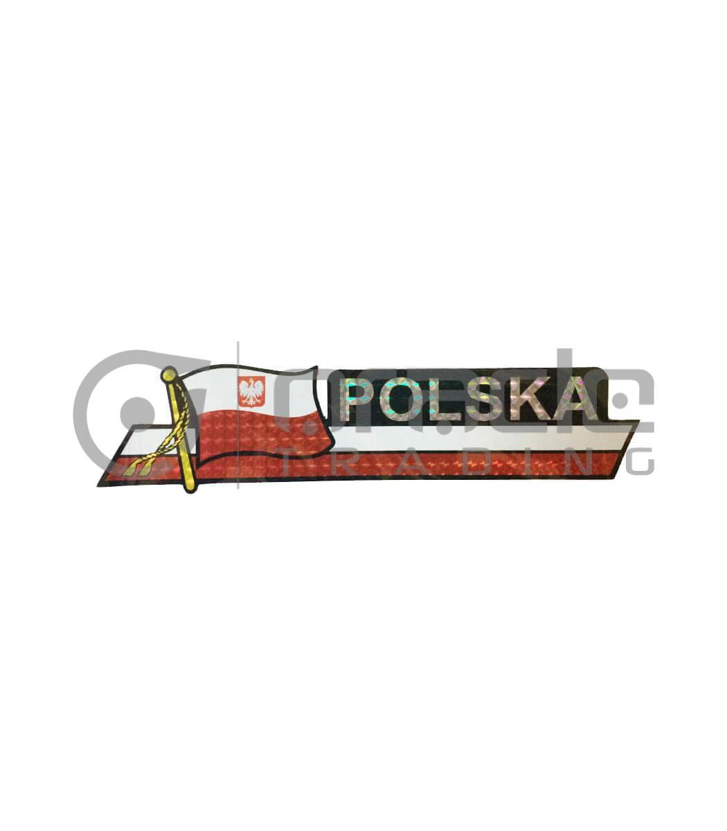Poland Long Bumper Sticker