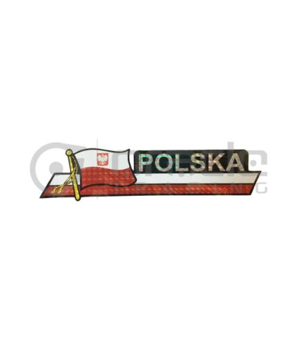 Poland Long Bumper Sticker
