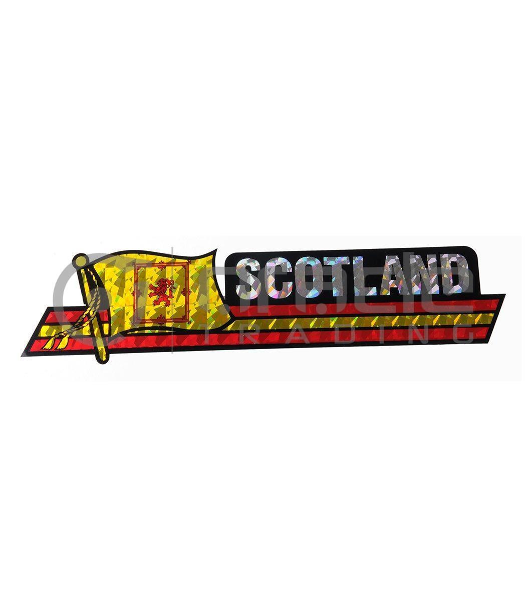Scotland Long Bumper Sticker (Rampant Lion)