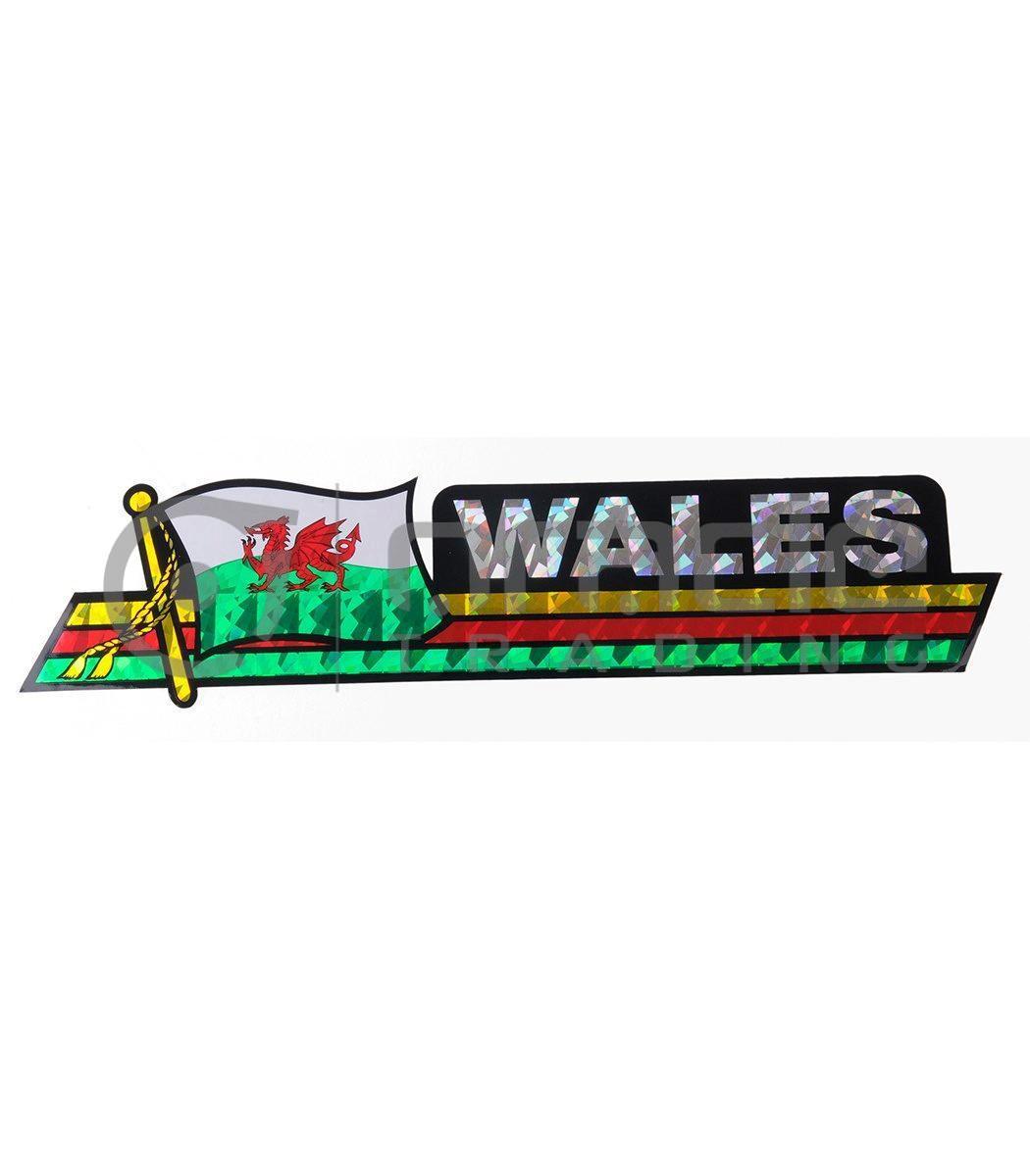 Wales Long Bumper Sticker