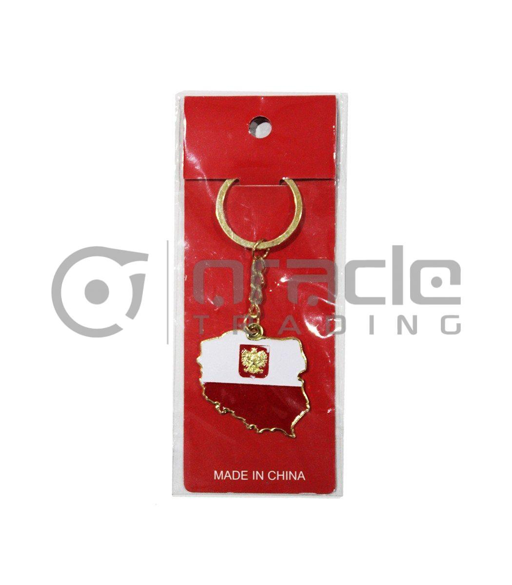 Poland Map Keychain 12-Pack